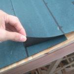 屋根(南側)ルーフィング施工状況